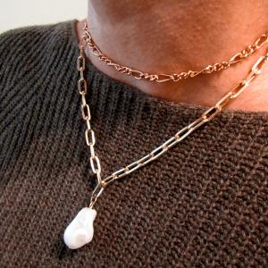 Modelo Collar Eslabon Perla Nurhia Accesorios