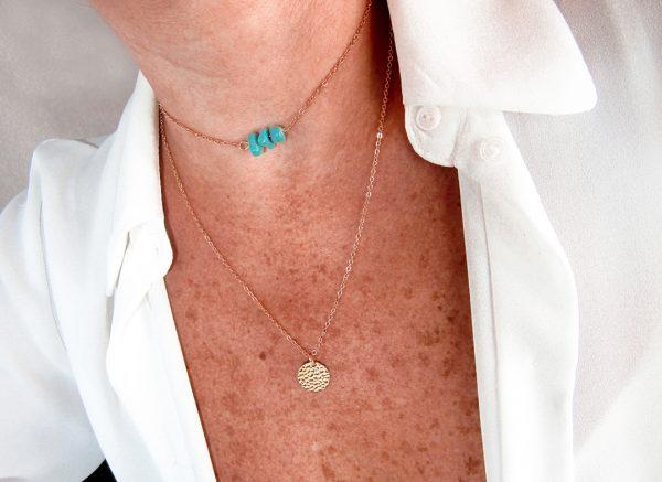 Modelo Collar Piedras turquesa Nurhia Accesorios